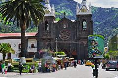 Photo of the church Nuestra Señora del Rosario de Agua Santa in Beños de Agua Santa, Ecuador